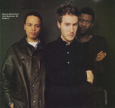 Photo of Massive Attack taken in 1998 during promotion for the Mezzanine album. Massive Attack, Trip Hop, Music Icon, Celebs, Celebrities, Famous People, Daddy, Magazine, Album