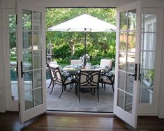 Back doors for the patio. Spaces Craftsman Double Patio Doors Design, Pictures, Remodel, Decor and Ideas - page 3