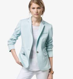 GREEN KNIT BLAZER - View all - Blazers - WOMEN - Massimo Dutti