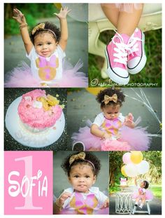 First birthday photography. Baby girl first birthday photo idea. Vintage girl photo idea. Outdoor photography. Cake Smash photo idea. Minnie Mouse photo ideas. InesLynn Photography. Miami, Florida photographer.