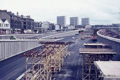 M8 construction at Charing Cross, Glasgow (August 1971)