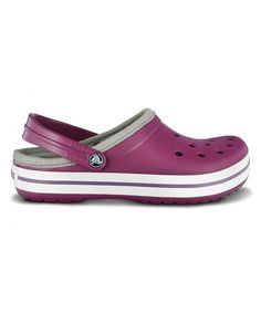 Look at this Crocs Plum & Lilac Lined Crocband Clog - Women & Men on #zulily today!