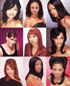 1980s Black Hairstyles, 2000s Hairstyles, African American Hairstyles, Wig Hairstyles, Straight Hairstyles, Black Hair 90s, Blond, Costume Noir, Rides Front