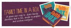 Faith Box:  Definitely a kid friendly devotional!  Families find having everything in the box a great way to learn about God together!