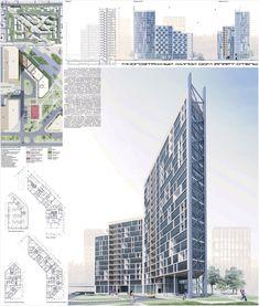 Проект многоэтажного жилого дома в Томске. Авторы: Калашник А.В., руководитель Коблашова Г.В.