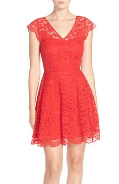 BB Dakota 'Reece' Lace Fit & Flare Dress available at #Nordstrom