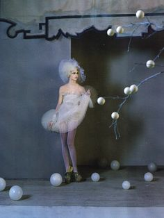 Sasha Pivovarova by Tim Walker for Vogue UK March 2010