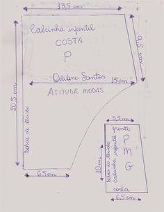 ATITUDE MODAS Odilene Santos: Novos moldes de calcinhas infantis!!! Love Sewing, Sewing For Kids, Baby Sewing, Clothing Patterns, Sewing Patterns, Baby Doll Accessories, Baby Dress Patterns, Baby On The Way, Little Girl Dresses