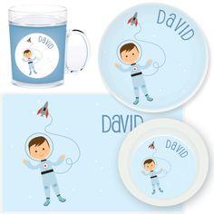 personalized mealtime set | astronaut