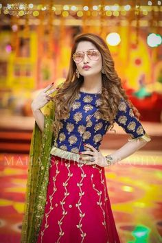 Dp by shao Pakistani Wedding Outfits, Wedding Dresses For Girls, Pakistani Wedding Dresses, Pakistani Dress Design, Party Wear Dresses, Girls Dresses, Bridal Mehndi Dresses, Frock Fashion, Fashion Dresses