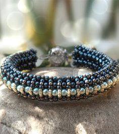 Raw beaded bracelet tutorial, Elizabeth bracelet beading pattern