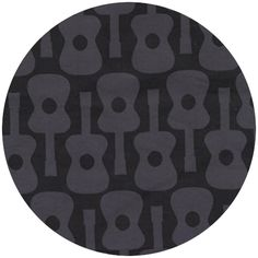 Groovy Guitars Gray by Michael Miller // for yellow & gray ?