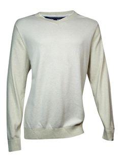 Tommy Hilfiger Men's Textured Cotton Sweater (XXL, Crème Brûlée)
