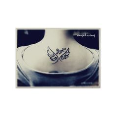 Free Tattoo Designs Angel wing tattoo designs for girls ❤ liked on Polyvore featuring tattoos and tatoos