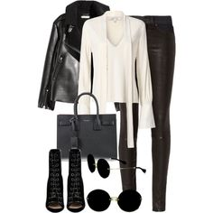 A fashion look from December 2016 featuring Alexis blouses, rag & bone and Barbara Bui ankle booties. Browse and shop related looks.