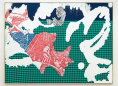 Sigmar Polke, Rotter Fisch (Red Fish) via Sotheby's Rudolf Stingel, Modern Art, Contemporary Art, Halftone Pattern, Fabric Pictures, Historical Images, Red Fish, Art Blog, Painting & Drawing