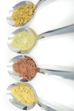 Look at these colorful powders! The colors come from all of the natural herbs and plants we use in our products. Natural supplements don't get better than this! Natural Supplements, Natural Herbs, How To Stay Healthy, Feel Good, Nutrition, Colorful, Vegan, Plants, Recipes
