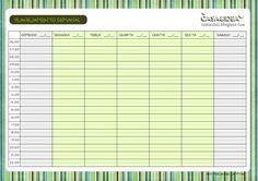 CASA&IDEA: Planejamento Semanal - Para imprimir / printable