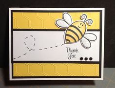 Hive4bees (the Stamps of Life) thank you by MikiBee - Cards and Paper Crafts at Splitcoaststampers