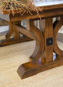 Amish-Rustic-Plank-Trestle-Dining-Table-Rectangle-Solid-Wood-Cabin-Furniture