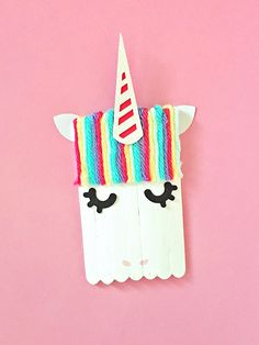 hello, Wonderful - MONSTER AND UNICORN POPSICLE STICK CRAFT