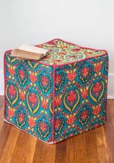 'Til There was Cube Pouf   Mod Retro Vintage Decor Accessories   ModCloth.com