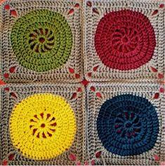 Lise Franck : Firekant med cirkel og lille sol.