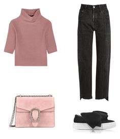 """""""Senza titolo #154"""" by anna-1999 ❤ liked on Polyvore featuring Vetements, Allude, Joshua's and Gucci"""
