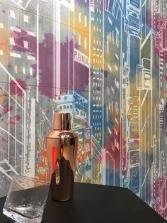 City brings us the vitality and discreet complexity of an extremely cosmopolitan city. Mural consisting of two sets of four tiles that can create as Candy Colors, Lava Lamp, Tiles, Table Lamp, Ceramics, City, Wall, Home Decor, Creativity