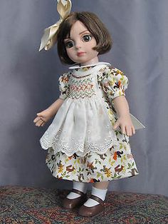 Autumn-Smocked-Apron-Dress-for-Tonner-Patsy-Ann-Estelle-etc-by-Bursies-Babies. SOLD for $40.00 on 10/26/14.