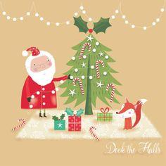 Sophie Hanton - Sophie-hanton-christmas-santa-and-tree-seh1403-copy