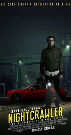 Directed by Dan Gilroy.  With Jake Gyllenhaal, Rene Russo, Bill Paxton, Riz Ahmed. When Lou Bloom, a driven man desperate for work, muscles into the world of L.A. crime journalism, he blurs the line between observer and participant to become the star of his own story. Aiding him in his effort is Nina, a TV-news veteran.