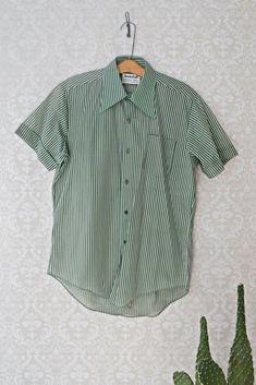 86c10d35 Vintage 1970s Sheer + Stripe Shirt - closiTherapi | vinTage Menswear,  Stripes, Shirt Dress