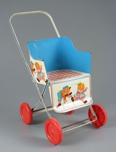 Metal Raggedy Ann and Andy Stroller