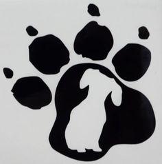 Dachshund Dog Pet Paw Print Car Truck Window Vinyl Decal Sticker 12 COLORS #VinylDecalSticker