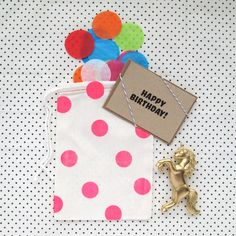 Unicorn Birthday Card Bag | PaperBeatsRock1 on Etsy | $13.00