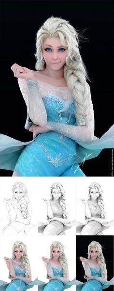 cosplay frozen (desenho)