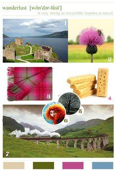 wanderlust: Scotland Mood Board-layout