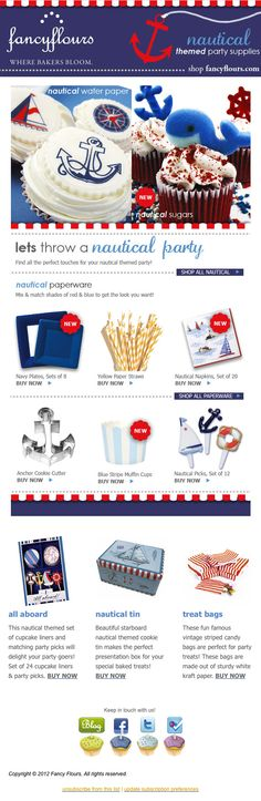 Nautical party supplies for Engagement party