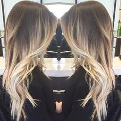 Ideas to go blonde - warm long ombre | allthestufficareabout.com
