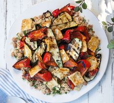 Rainbow Salad with Haloumi