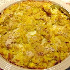 This is a tried and true southern recipe that can be modified by adding meat or rice to it to make it a meal by itself. Chicken or turkey can be added to it, so bring on the leftovers. My daughter loves this recipe. You can mash the squash if you like it that way, but we just cut it into small pieces. Of course adding onion and other seasonings are always optional. I like to add onion if my kids aren't eating it, since I love it that way!