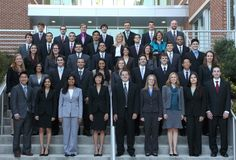 a medical school class in appropriate interview suits