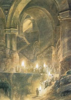 """Caves of Moria"" by Alan Lee"