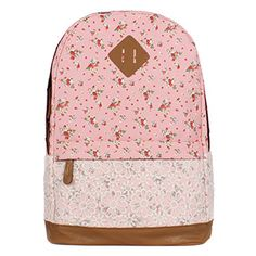 XQXA Brand Quality Floral Canvas Bag Backpack School for Teenager ...