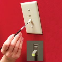 Luminous Light Switch - I thought the paint was toxic but wonder If there's an alternative? Luminous Light Switch - I thought the paint was toxic but wonder If there's an alternative? Home Fix, Up House, Simple Life Hacks, Home Repairs, Reno, Do It Yourself Home, Diy Home Improvement, Home Hacks, Home Organization