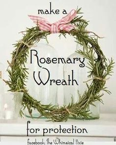 Rosemary wreath for protection