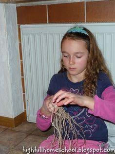 Make Your Own Fishing Net - Kid Activity - Mesopotamia