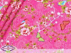 Stoff 'Romantiktraum' - pink - Stoffe Blumen von StickandStyle - Stoff Blumen - Stoffe gemustert - DaWanda