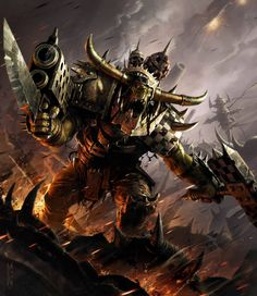 warhammer orks art,so cool. Warhammer 40k Art, Warhammer Fantasy, Orks 40k, Gundam Wallpapers, Space Wolves, Art Memes, Dark Ages, Space Marine, Fantasy Artwork